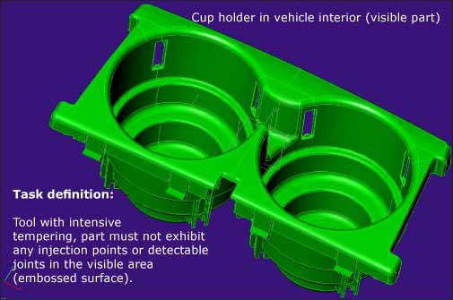Cup holder in vehicle interior (visible part)